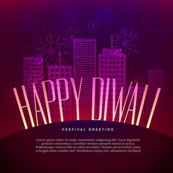 Glückliches diwali gruß-design mit platz für ihren text