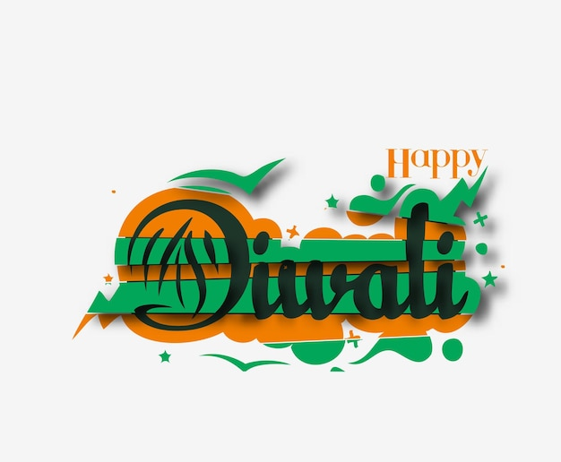 Glückliches diwali-hintergrunddesign. abstrakte vektorillustration.