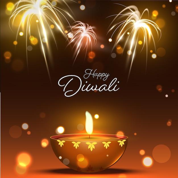 Glückliches diwali-konzept
