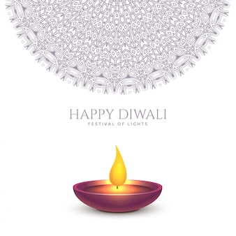 Glückliches diwali schönes hintergrunddesign