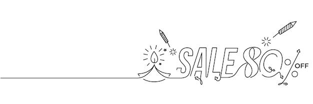 Glückliches diwali-verkaufsfahnen-plakat, vektorillustration.