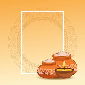 Glückliches dussehra festival von indien