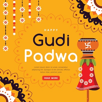 Glückliches flaches design von gudi padwa