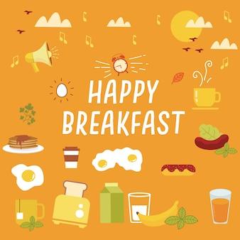 Glückliches frühstück