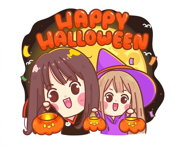 Glückliches halloween-banner für partyeinladungskarte auf weiß