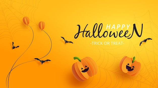Glückliches halloween-banner