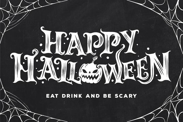 Glückliches halloween-beschriftungskonzept