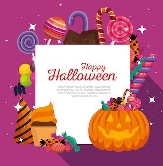 Glückliches halloween-dekorationsset