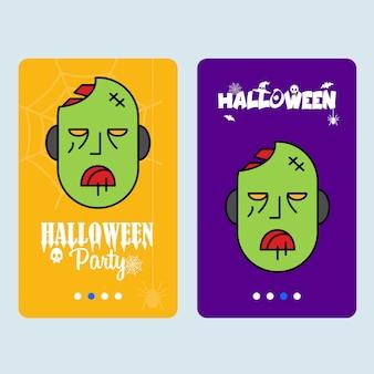 Glückliches halloween-einladungsdesign mit geistvektor