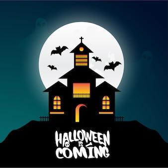 Glückliches halloween-gestaltungselement mit typografie