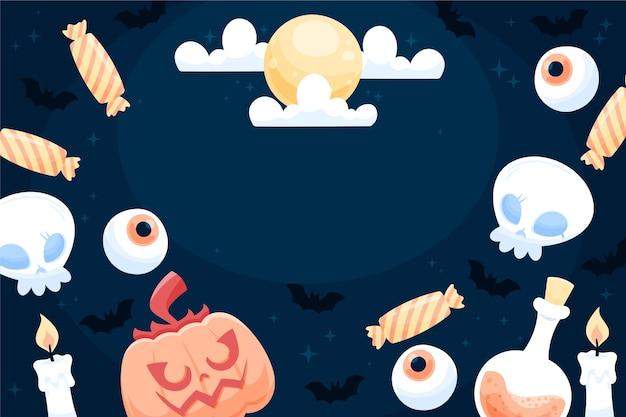Glückliches halloween-hintergrunddesign