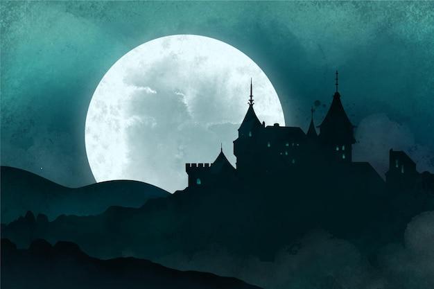 Glückliches halloween-hintergrundthema