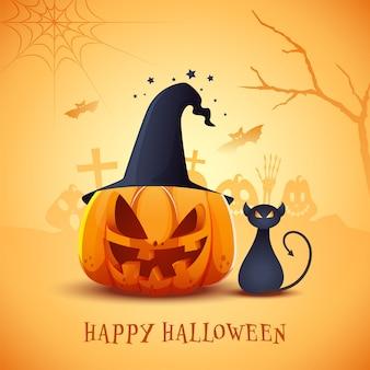Glückliches halloween-konzept