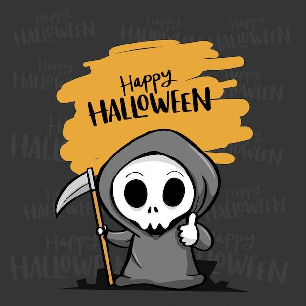 Glückliches halloween mit sensenmann