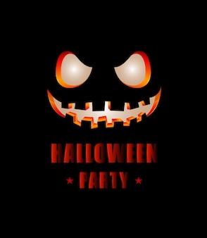 Glückliches halloween-partytextdesign