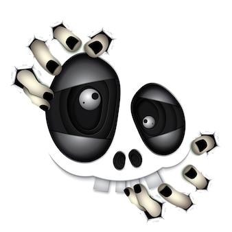 Glückliches halloween-schädel-monster