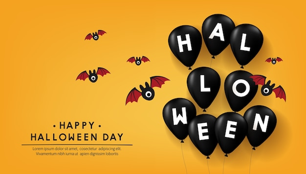 Glückliches halloween-tagesfahnen-vektordesign