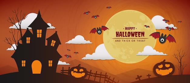 Glückliches halloween-tagesvektor-fahnendesign