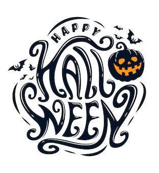 Glückliches halloween-text-banner