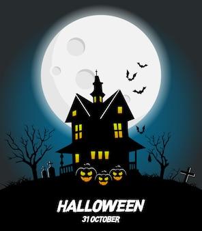 Glückliches halloween-vektorplakat