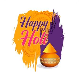 Glückliches holi festival des farbhintergrundes