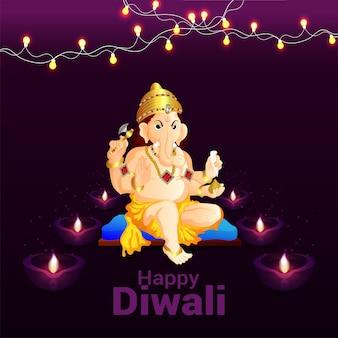 Glückliches indisches diwali festival
