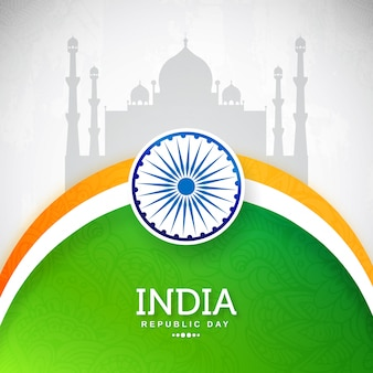 Glückliches indisches tag der republik-feier im januar