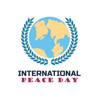Glückliches internationales friedenstageskonzept