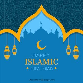 Glückliches islamisches neues jahr hintergrund