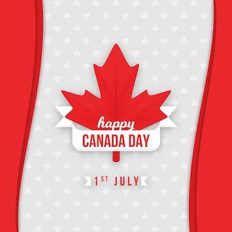 Glückliches kanada-tagesahornblatt