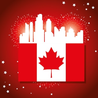 Glückliches kanada-tagesfeierplakat