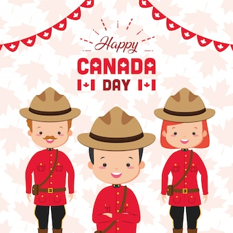 Glückliches kanada-tageskonzept