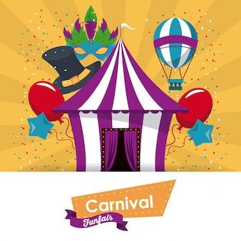 Glückliches karneval design