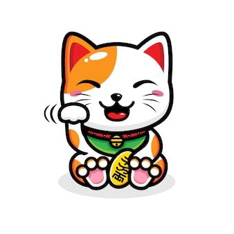Glückliches katzendesign