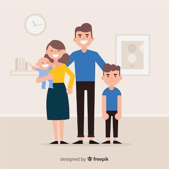 Glückliches konzept der familie zu hause