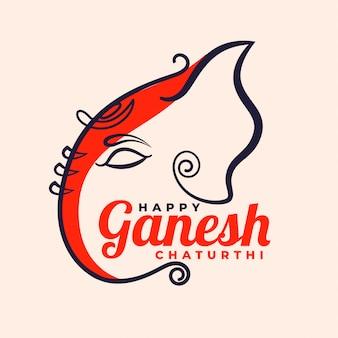 Glückliches kreatives festivaldesign ganesh chaturthi