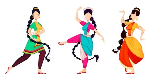 Glückliches onam. indische frauen tanzen