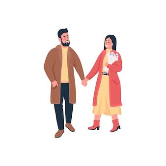 Glückliches paar, das hände hält