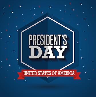 Glückliches präsidenten-tagesplakat