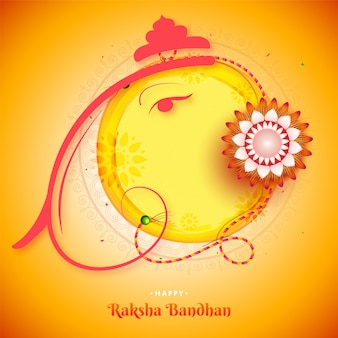 Glückliches raksha bandhan grußkartenentwurf.