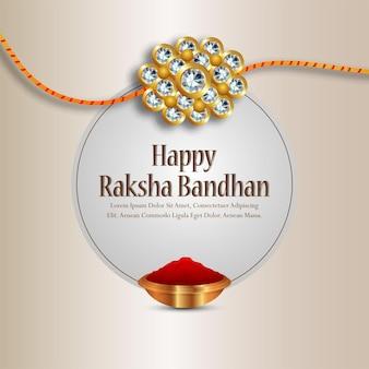 Glückliches raksha bandhan kristall rakhi