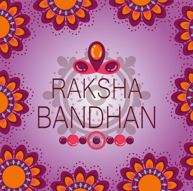 Glückliches raksha bandhan plakat