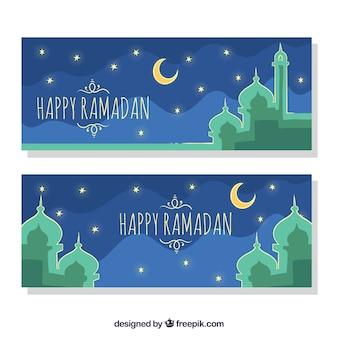 Glückliches ramadan banner