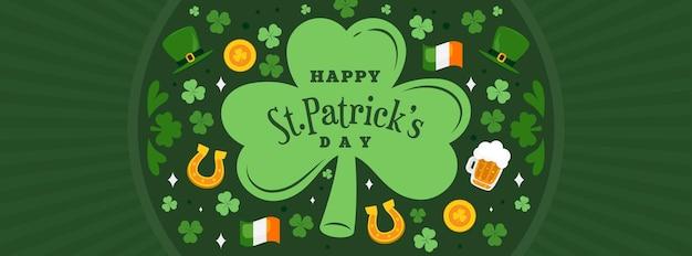 Glückliches st. patrick's day banner
