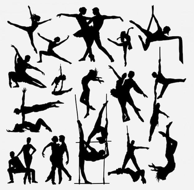 Glückliches tanzschattenbild