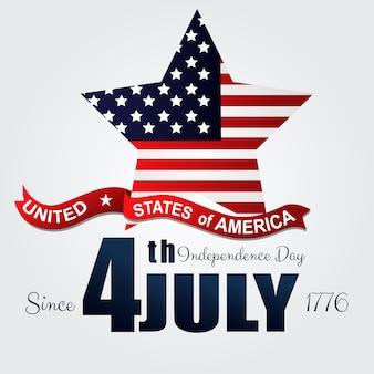 Glückliches usa-unabhängigkeitstag am 4. juli plakat grüßend