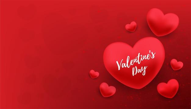 Glückliches valentinsgrußtagesfahnen-vektordesign