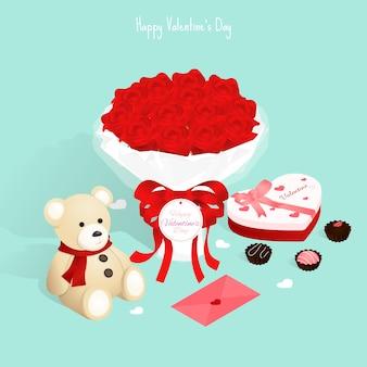 Glückliches valentinstag geschenk