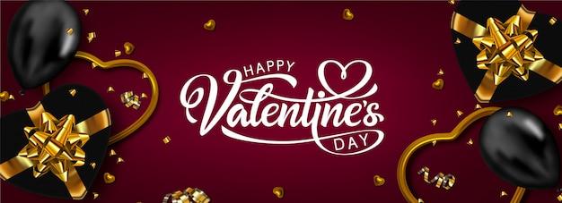 Glückliches valentinstagfahnendesign.