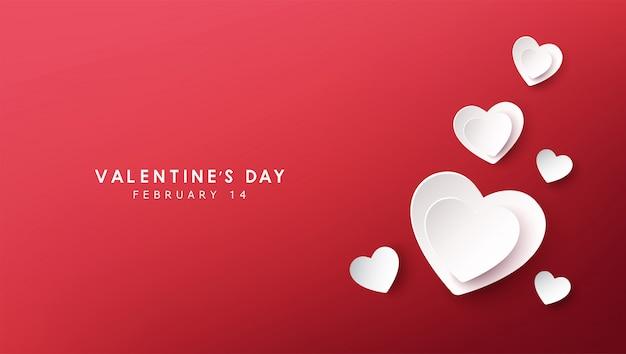 Glückliches valentinstagfahnendesign
